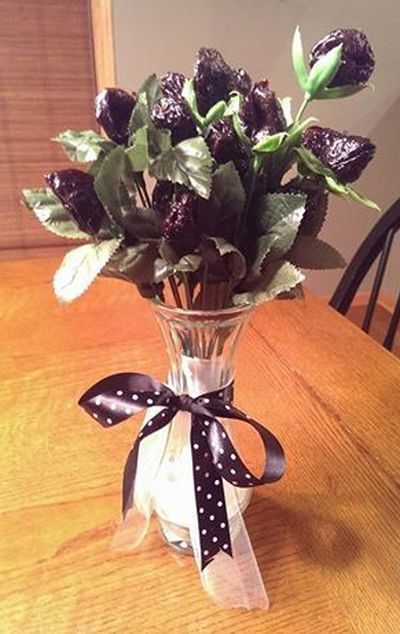 Fl Arrangement Using Prunes In The Place Of Flowers For A 50th Birthday See More