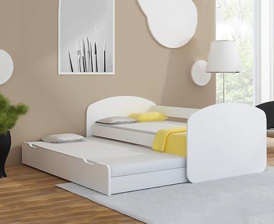 3500 inkl madras. Juniorseng DELUXE komplet med ekstra udtræksseng og 2 madrasser - stort liggemål på 90 cm x 200 cm - My Family Deal