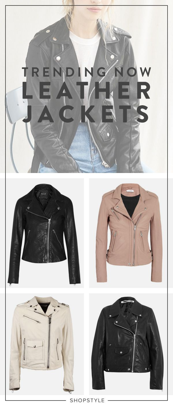 When in doubt, add a leather moto jacket.
