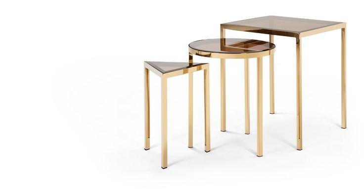 Nova Nesting Side Tables, Brass