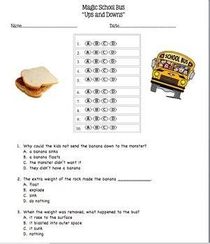 Magic School Bus Multiple Choice Video Questions - BIG Bundle - 10 ...