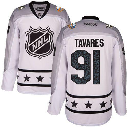 Men's New York Islanders #91 John Tavares White 2017 All-Star Metropolitan Division Stitched NHL Jersey