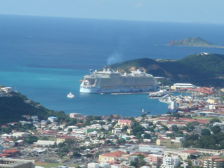 Allure of the Seas docked in St Thomas. We will be snorkeling in that paradise!