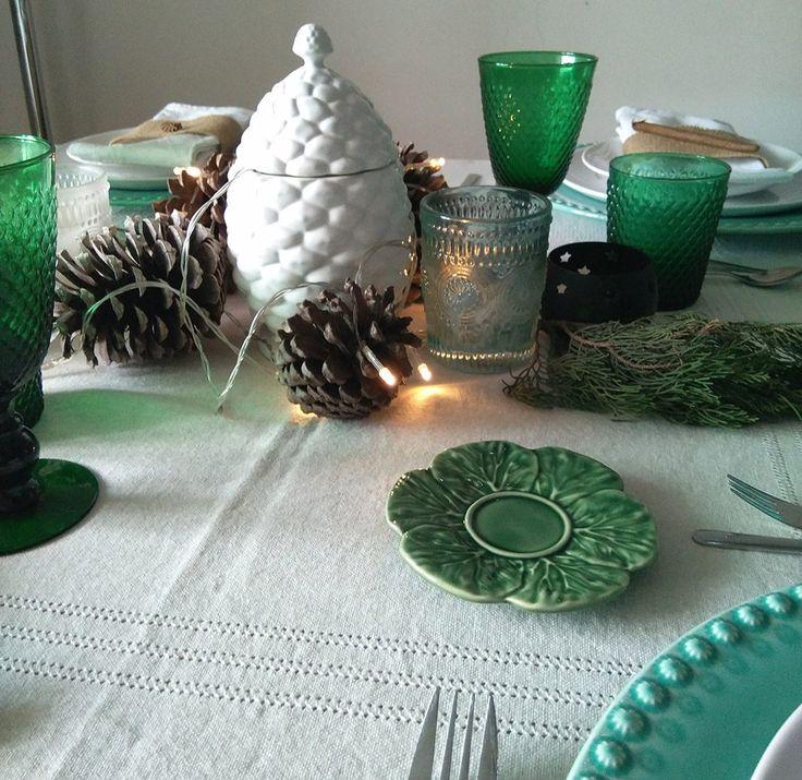 Pormenores Bordallo Pinheiro na nossa mesa de Natal.