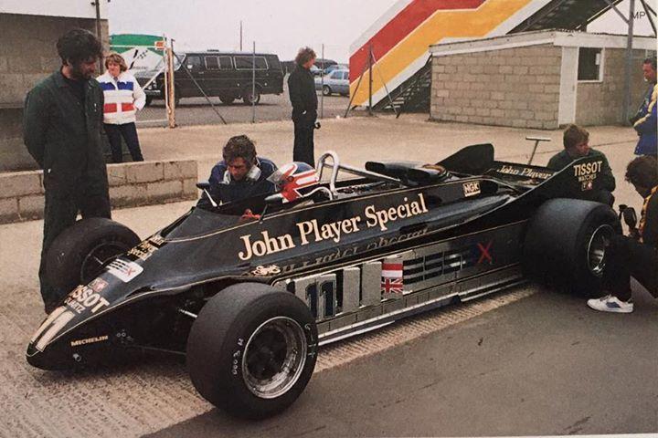 Nigel Mansell tests the Lotus 88B 1981