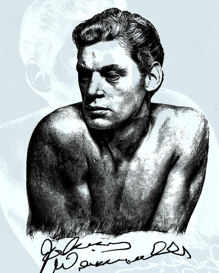Johnny Weissmuller was a Hungarian-born American competition swimmer and actor, best known for playing Tarzan in films of the 1930s and 1940s and for having one of the best competitive swimming records of the 20th century.