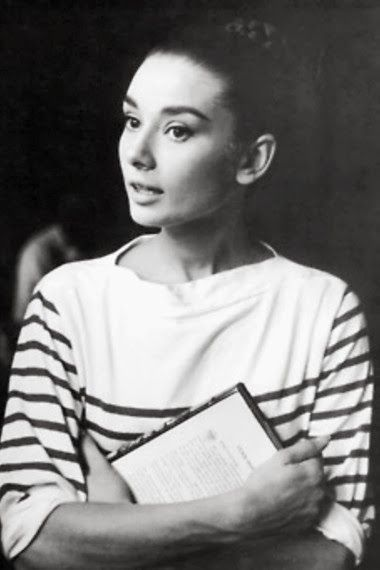 two forever classics: audrey hepburn and breton stripes. (december 2013.)