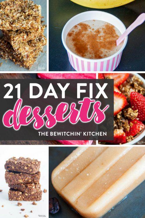 21 Day Fix desserts featured on the ULTIMATE 21 Day Fix resource guide - features reviews, 21 day fix results, and recipes.