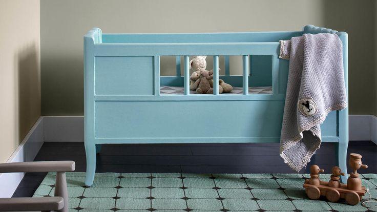 Idee Theme Chambre Bebe Garcon : enfants grandissent vite Vous peignez leur chambre en bleu layette et