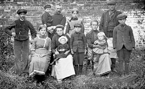 Belgian Refugees, Stone, Staffordshire, 1917-18.