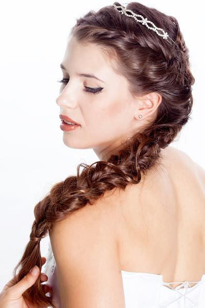 Wedding Hairstyles With Braids And Bangs : 116 best hairstyle o o beauty images on pinterest