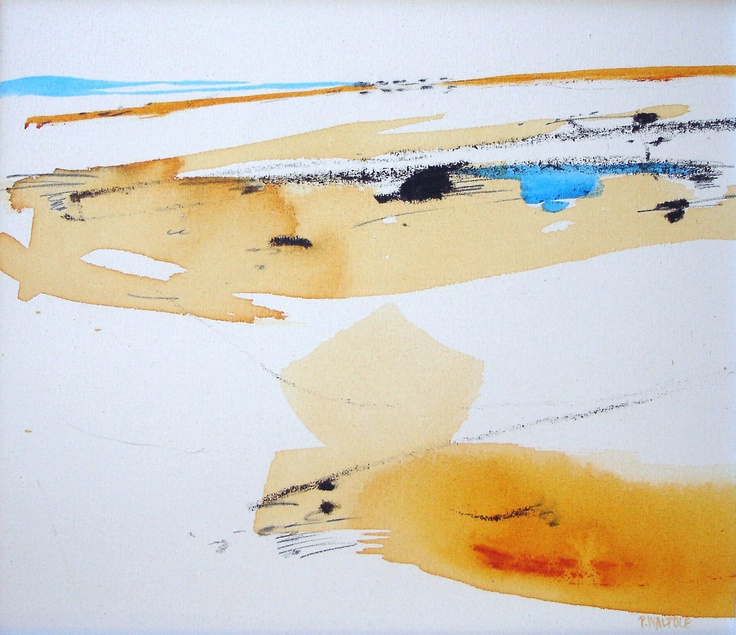Pam Walpole  'Mirage' - 53 x 55cm, mixed media on canvas