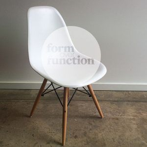 Eames style white chair #eventhire