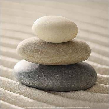Gestapelde Stenen kunstdruk, klik voor beste weergave