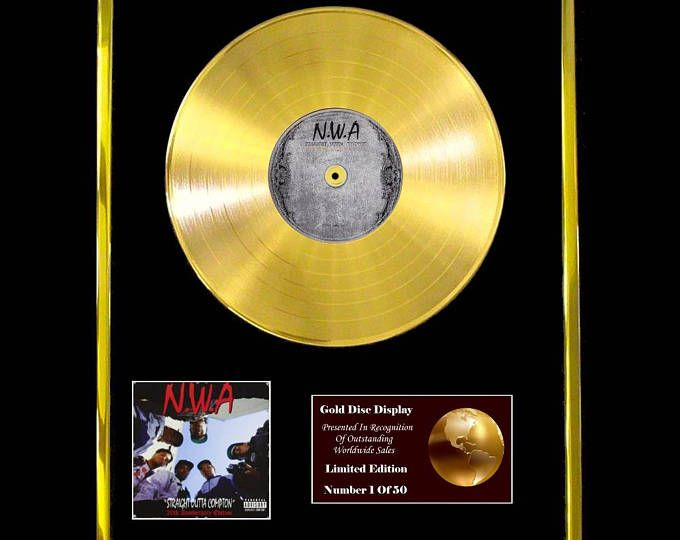 NWA Straight Outta Compton CD Gold Disc Vinyl Record LP Award Handmade Gift