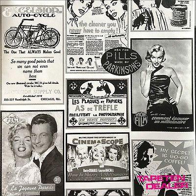 Tapete Retro Marilyn Monroe / Tapete Icons Zeitung HT17221 / EUR 3,75/qm
