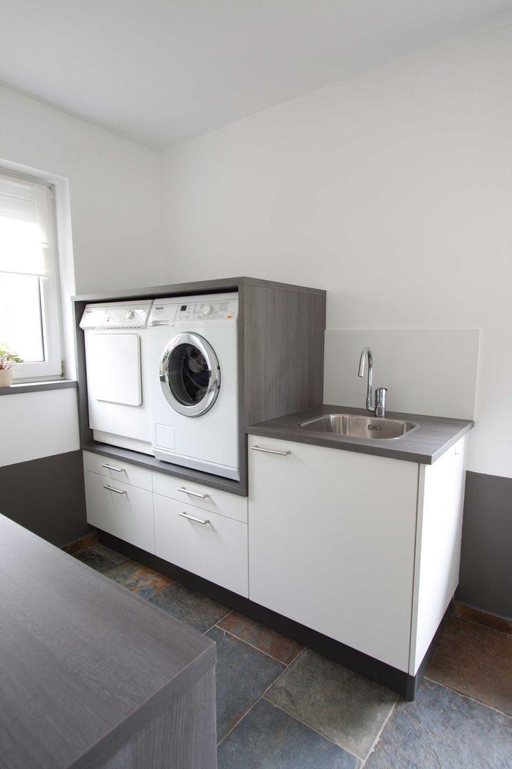 Handig: Wasmachine op hoogte met daaronder lades v…