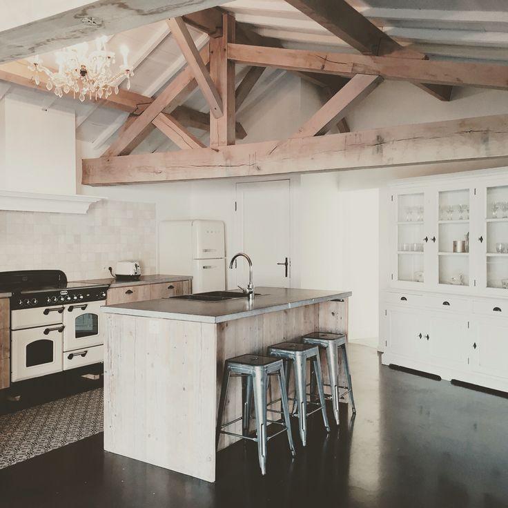 #kitchen #steigerhout #smeg #falcon