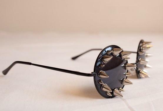 Sooooooo wonderful Spiked shades!!!! Want these ...