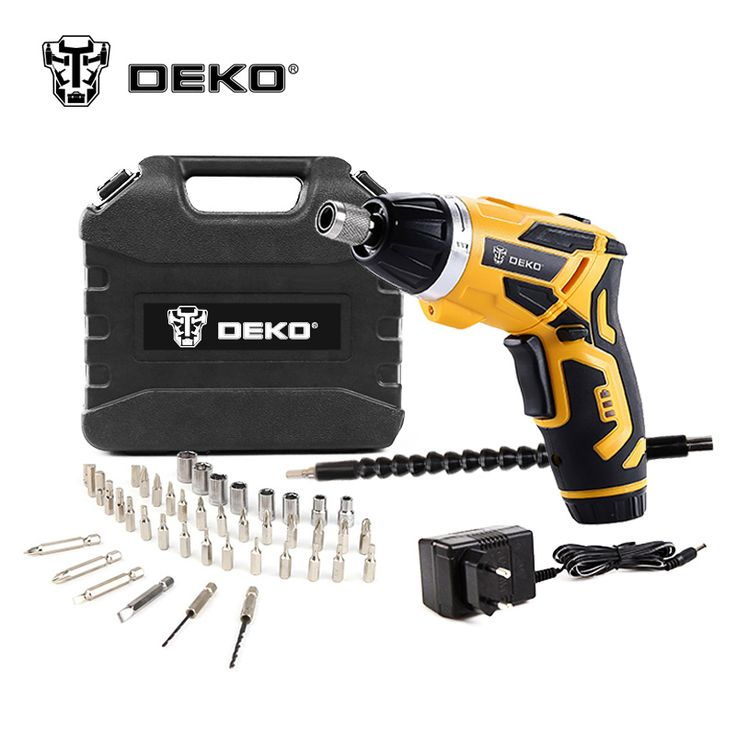 DEKO GCD3.6DKB 4V Cordless Electric Screwdriver Household Rechargeable  & 45 Piece Accessories //Price: $61.65 & FREE Shipping //     #wood drills  #CARVING CHISEL  #Double Feather   #Board Router   #Drill Chuck Screwdriver   #Drill Bit
