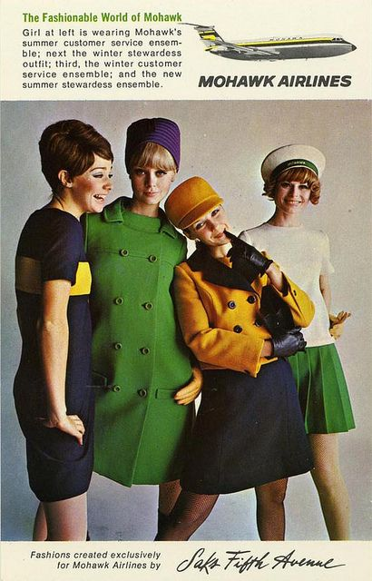 Saks Fifth Av - Mowhak Airlines Ad - NYC by Oldimages, via Flickr