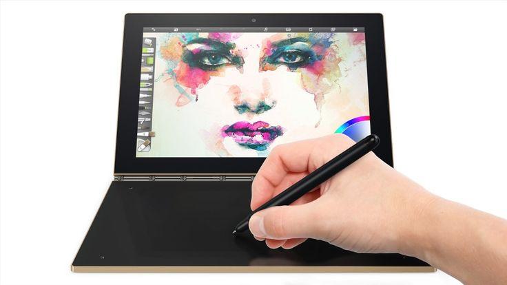 "tablette tactile hybride Lenovo Yoga Book 10"" FHD Bronze, tablette pas cher Amazon"