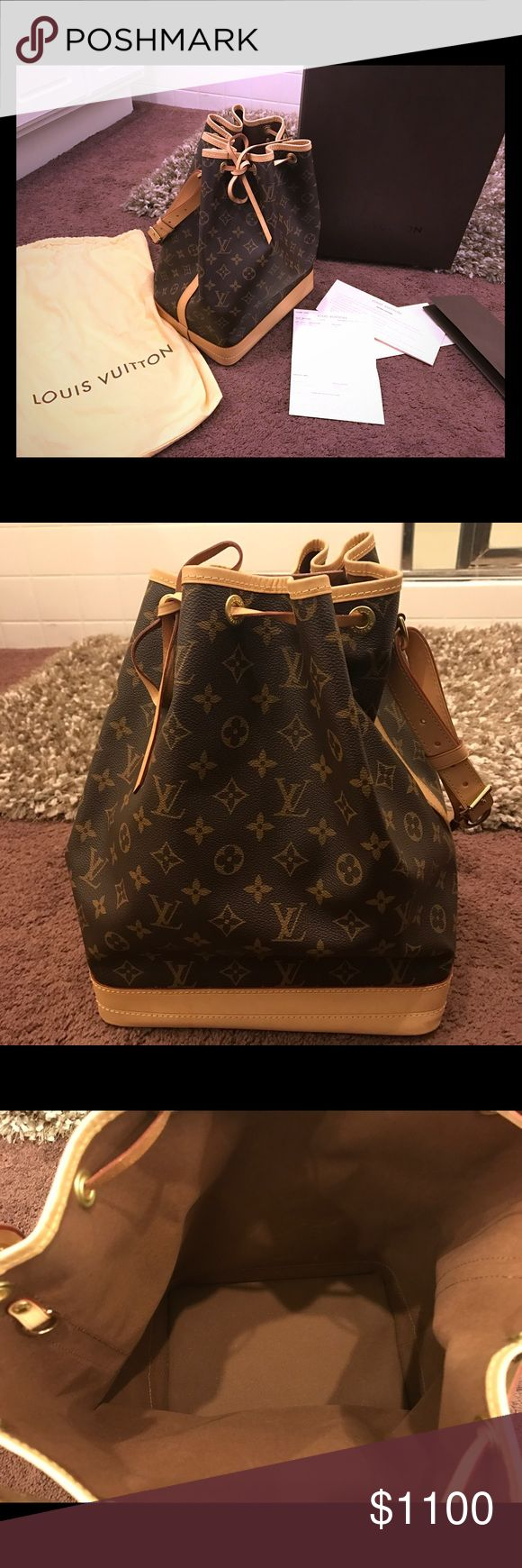 [Sold] Louis Vuitton Noe (Large) like new 100% authentic, comes with dust bag, original box and receipt. Bought from official Louis Vuitton official website. 95% new, only used it twice. Louis Vuitton Bags