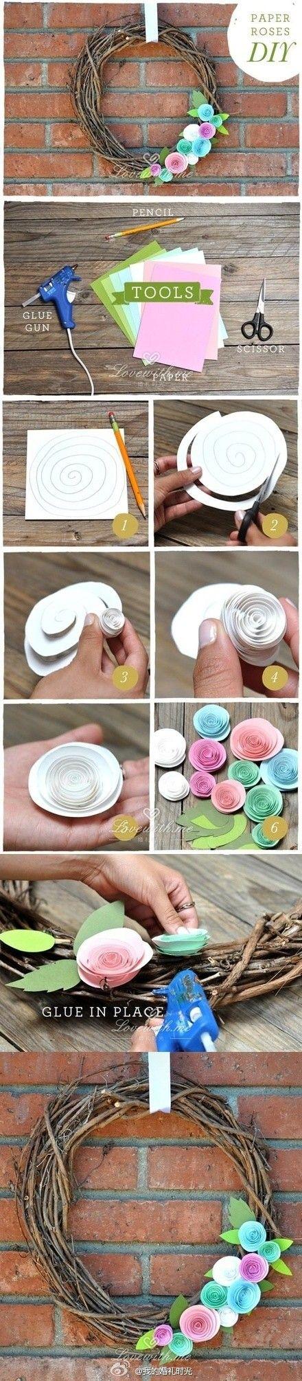 Heap # # tutoriel bricolage créatif papier de bricolage roses anneau tutoriel, si Vous êtes fatigué de faire des roses en origami, dans L'es ...