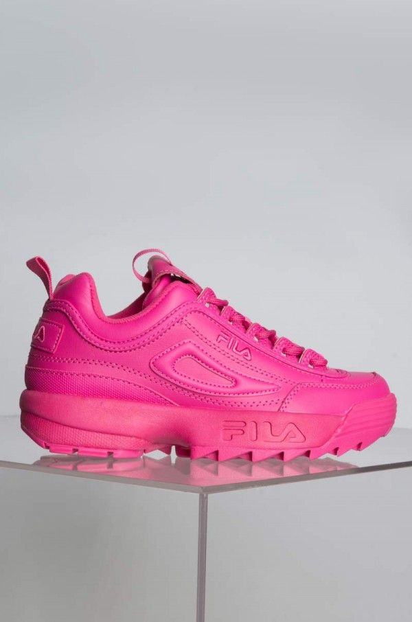 Hot pink shoes, Pink sneakers