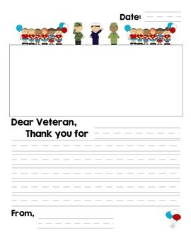 Free veteran 39 s day thank you letter holidays pinterest for Veterans day thank you letter template