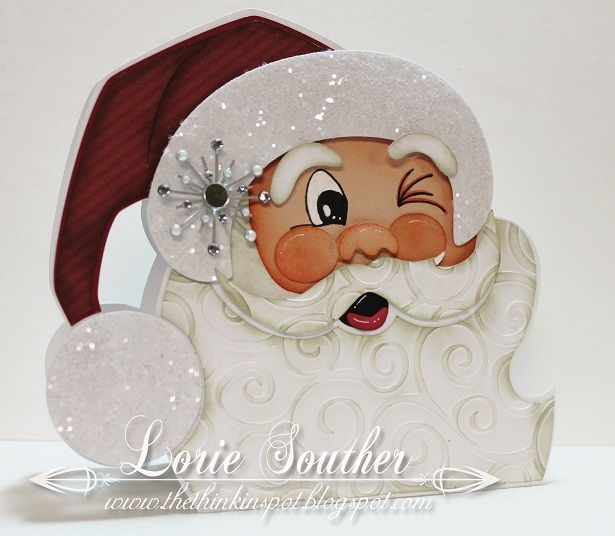 Winking Santa by lorie64 - Cards and Paper Crafts at Splitcoaststampers