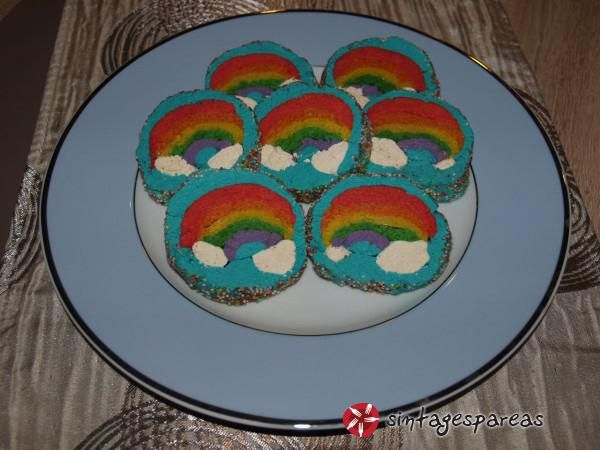 Cookies ουράνιο τόξο #sintagespareas #cookiesouraniotoxo