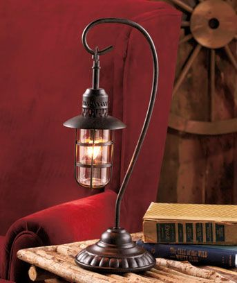Fair  Pottery Barn Buckle Lantern Table Lamp and lantern table lamps