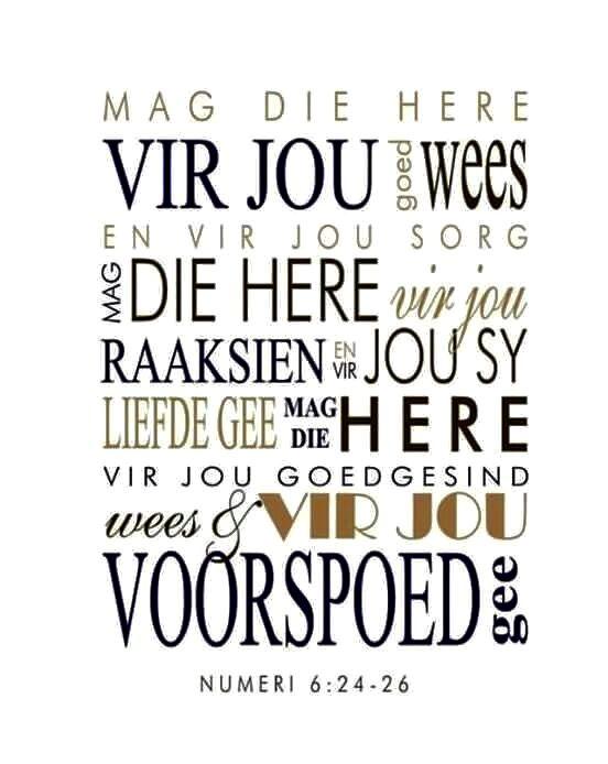 Teks - Num 6:24-26 #Afrikaans #Scripture