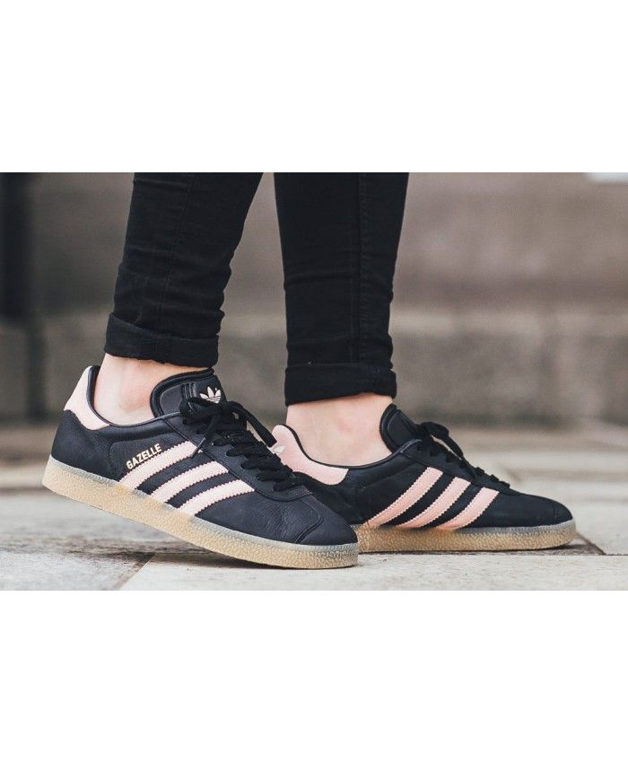 d62fe1761e4 Adidas Gazelle Black Pink Women Shoes
