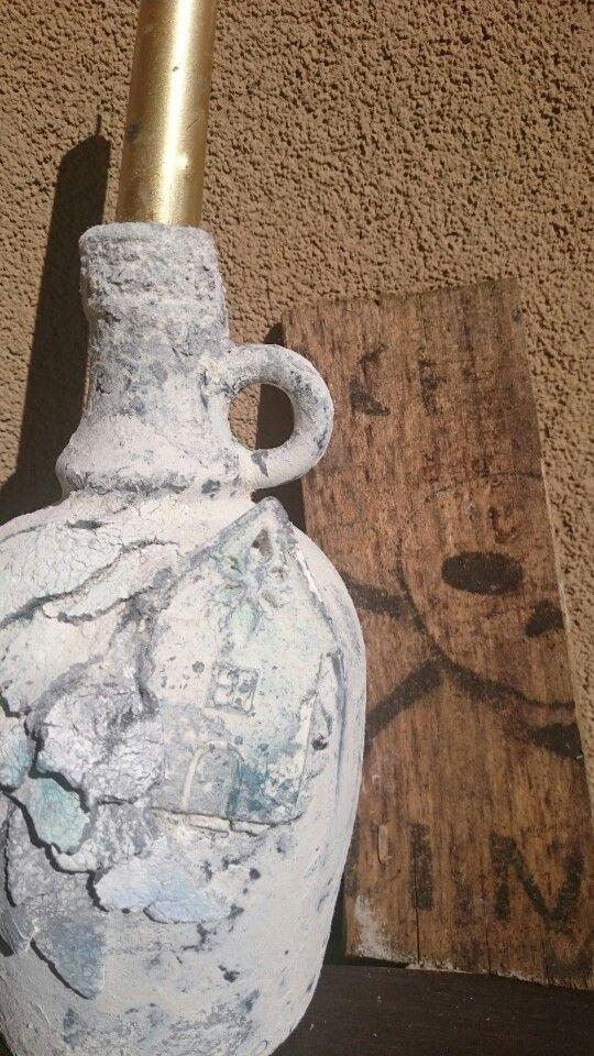 Pawertex butelka, świecznik