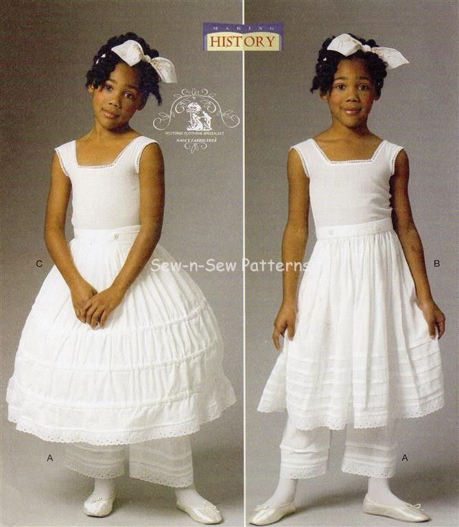 Butterick Civil War Patterns | Details about Butterick B5901 SEWING PATTERN 2-5 Girls Civil War ...