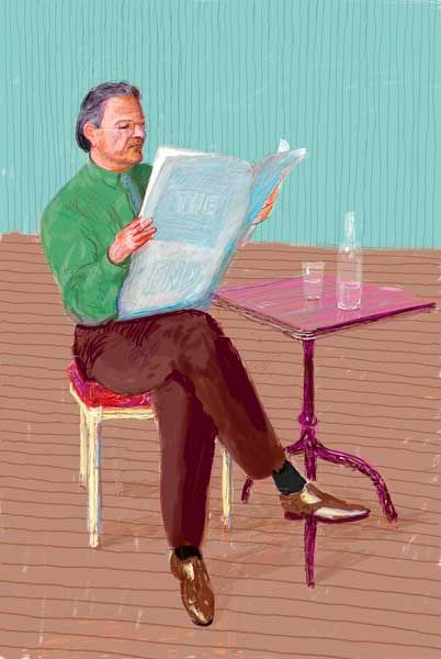 ART & ARTISTS: David Hockney digital portraits