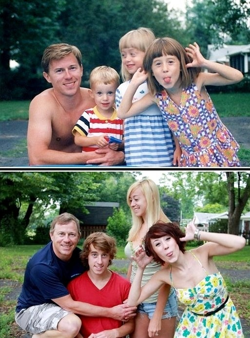 Recreate a photo years later.