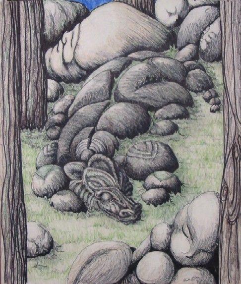 Stone Dragon by ~ChaosRuby on deviantART