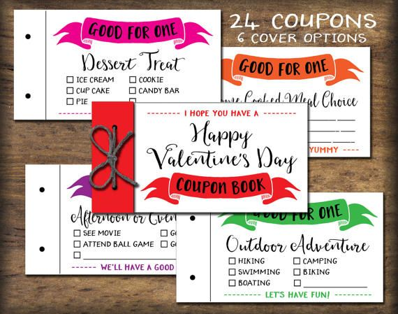printable coupon book for husband
