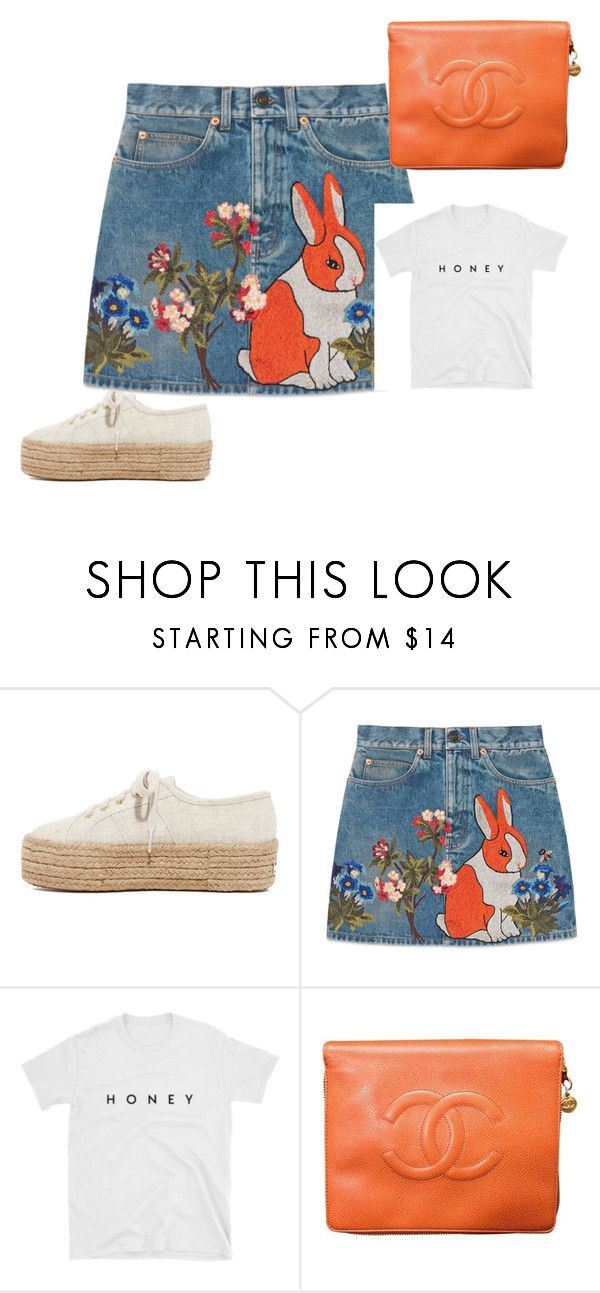 """""""Cute little bunnies...."""" by rosamackenzie on Polyvore featuring Superga, Gucci and Chanel"""