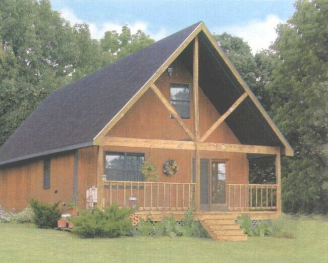 Sutherlands home package the weekend aspen cabin floor for Sutherlands house plans