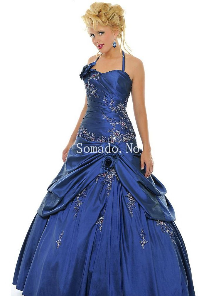 Ball Gown Blomsts Ruched Taffeta Ballkjoler