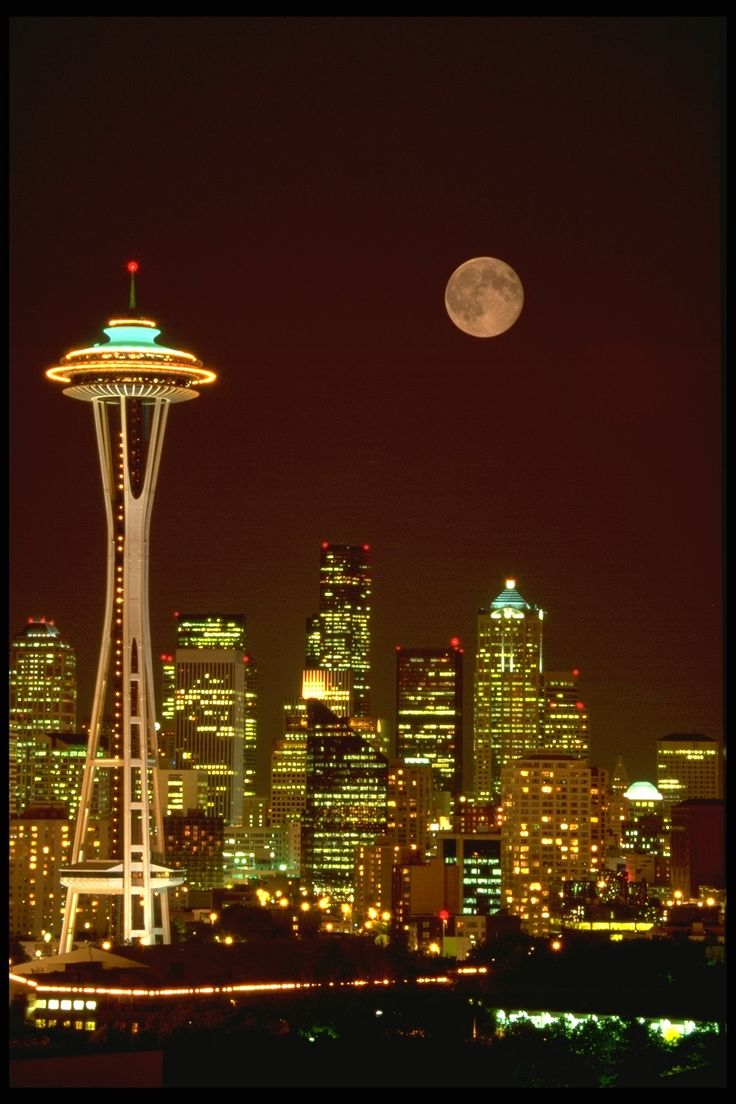 The Space Needle, Seattle.                                                                                                                                                     More