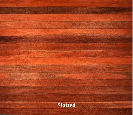 A wooden garage door in Slatted style.