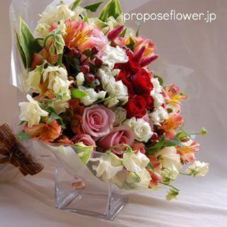 #花屋 #フラワーショップ #flowershop #flowerdesign #プロポーズフラワー #propose #プロポーズ花束