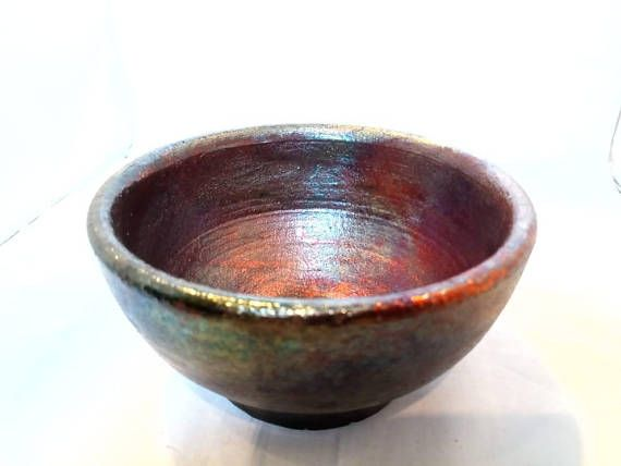 Check out this item in my Etsy shop https://www.etsy.com/listing/569931920/raku-pottery-bowl