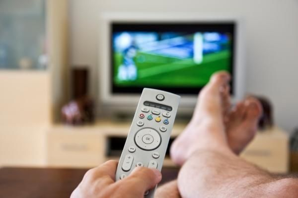 Vow to put away five things or do one task during each commercial break while watching TV.