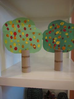 TP Tube Trees... perfect craft for little kids... or for backgrounds for puppet shows, dioramas, etc.